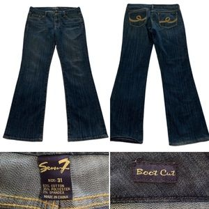 7 for all mankind jeans bootcut  31 x 33